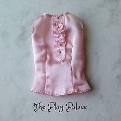 Barbie The Look Sweet Tea Blouse Sleeveless Pink Ruffle Model Muse FS852  | eBay