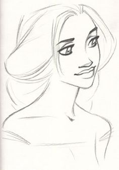 Early Rapunzel Concept Sketch...she looks so much older here.