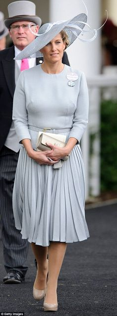 Sartorial overhaul: The Countess of Wessex has become increasingly stylish in recent years...