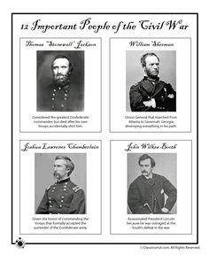Civil War for Kids Civil War Generals and Criminals – Classroom Jr.