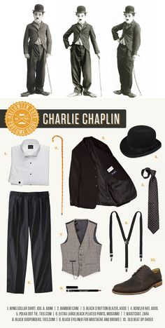 Charlie Chaplin Halloween Costume. This quirkly little comedian has been charming hearts since the early 20th century.