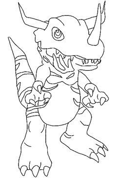 Digimon Coloring Page - Print Digimon pictures to color at AllKidsNetwork.com