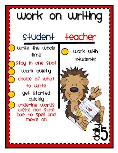 Daily 5 Work On Writing Clipart Daily 5 Chapter 6 Daily 5 Writing, Daily 5 Reading, Work On Writing, First Grade Writing, Guided Reading, Writing Ideas, Writing Checklist, Writing Resources, Learning Resources