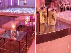 Pretty In Pink | Table Centres | Mirrors | Candlelit | Seedlip Gin |  Glamour |
