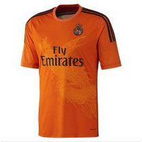 14 15 Real Madrid Football Shirt Cheap Goalkeeper Orange Replica Jersey A849 Soccer Jersey Real Madrid Football Real Madrid