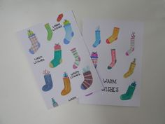Christmas cards #cards #socks
