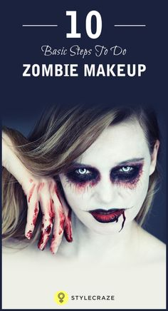 If you love experimenting with makeup, you must have tried the zombie and vampire look before. But if it hasn't got you the best of results, don't be disheartened. In this post, you are going to learn simple, basic, and effective techniques to get that perfect zombie look. If it's a fancy dress party you are going for or even Halloween, then this zombie makeup idea will definitely be a stunner!