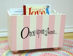 Such a cute bookholder for a child's room!