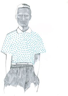 Menswear Fashion Print from Original Pencil and Ink Illustration by Katie Munro 'CDG x H&M' Wall Art, Home Decor by KatieMunroPrints on Etsy Ink Illustrations, Fashion Prints, Pencil, Menswear, Ruffle Blouse, Mens Fashion, Wall Art, The Originals, Trending Outfits