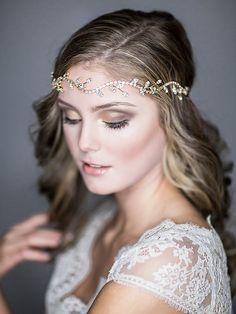 Bridal Halo Headband Wedding Hair Accessories by GlamorousBijoux