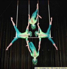 Cirque du Soleil Varekai- The triple trapeze act got me started on my journey to becoming a trapeze artist. I wanted to be just like these ladies. Their confidence and attitude are sublime.