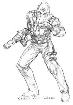 Cobra Commander Sketch CommanderGi JoeColoringArmy