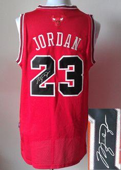 Men s NBA Chicago Bulls  23 Michael Jordan Red Signature Jersey Chicago  Bulls Nba 8b5b454a2c3