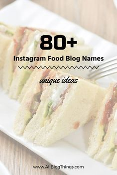 80+ Instagram Food Blog Name Ideas