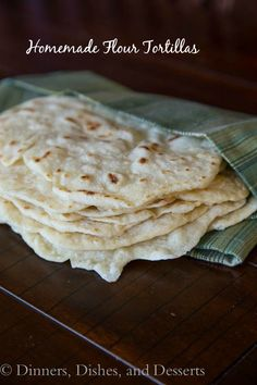 Homemade Flour Tortillas. Seems pretty easy! I don't know why I have never tried this before