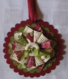 2011 Christmas Ornament 2 by Maureen Albert September 2011 Paper Christmas Ornaments, 3d Christmas, Christmas Makes, Christmas Projects, All Things Christmas, Handmade Christmas, Holiday Crafts, Christmas Decorations, Christmas Fabric