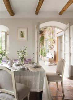 Indoor and outdoor living just great design South Shore Decorating South Shore Decorating, French Country Decorating, Home Theaters, Piece A Vivre, Contemporary Interior Design, Dining Room Design, Dining Rooms, Dining Area, Round Dining