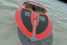 Corvette 1963 boat but open version Design Zolland design of sweden