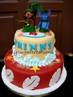 My Sugar Creations (001943746-M): Lilo & Stitch Cake - Trinny 15