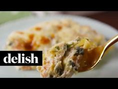 Best Chicken Spinach Artichoke Lasagna Recipe - How to Make Chicken Spinach Artichoke Lasagna Recipe. GF: use GF noodles and flour, mix all together and bake. Entree Recipes, Meat Recipes, Fall Recipes, Pasta Recipes, Crockpot Recipes, Cooking Recipes, Artichoke Recipes, Artichoke Dip, Food N