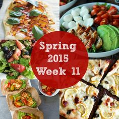Weekly Meal Plan with free grocery shopping list | Rainbow Delicious Spring 2015 Week 11