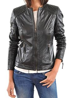 SkinsDesign Women's Stylish Motorcycle Leather Jacket WJ 56 X-Small Black SkinsDesign http://www.amazon.com/dp/B00XXYCBT8/ref=cm_sw_r_pi_dp_HgV.vb1BH5NNK