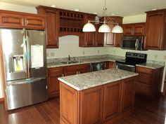 Kitchen of a Casale II (13-45M)  Granite Countertops and kitchen cabinets