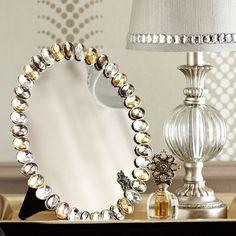 Smoke & Gold Vanity Mirror