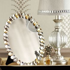 Smoke & Gold Vanity Mirror
