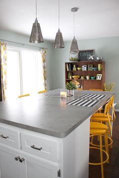 drew and vanessa kitchen Looks like concrete!