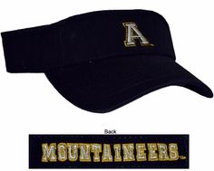 App State- Black Visor  Conference Apparel & College Sports Apparel - Conference Wear - Salisbury, North Carolina College Hats, App State, Sports Apparel, Salisbury, Sport Outfits, North Carolina, Conference, How To Wear, Black