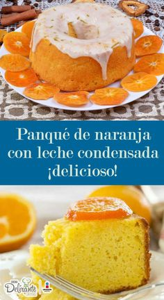La mejor receta de panqué de naranja con leche condensada, ¡que hayas probado! (receta fácil) Sweets Recipes, No Bake Desserts, Cake Recipes, Bolo Laura, Pan Dulce, Crazy Cakes, Cheesecake Cake, Almond Cakes, Eat Dessert First