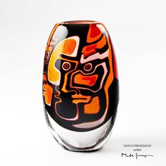 Mats Jonasson (Swedish) Graal Glass Vase.