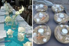 Decoración boda playa Ocean Themes, Ibiza, Ideas Para, Wedding Day, Wedding Inspiration, Baby Shower, Table Decorations, Flowers, Home Decor