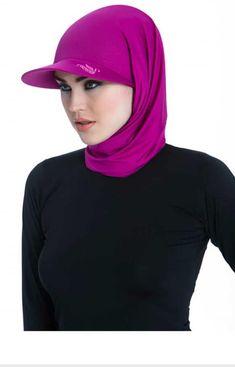 Islamic Fashion, Muslim Fashion, Sports Hijab, Hijab Caps, Turban Hijab, Head Scarf Styles, Hijab Fashionista, Modest Swimsuits, Hijab Tutorial