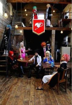 Fairy Tail : Natsu , Lucy , Grey , Erza , Juvia , Mirajane , Freed , Gajeel , Luxus