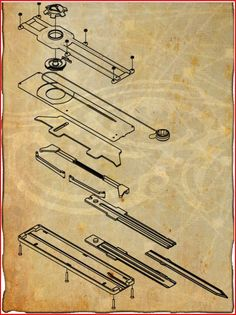 assassin's creed hidden blade blueprints (if you'd like to make one). This design belongs to Ammnra.