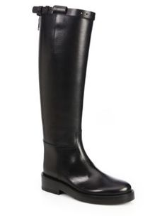 Ann Demeulemeester - Knee-High Leather Riding Boots