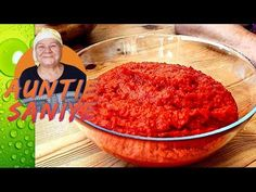 Homemade Pepper Paste on the Hob | Alternative to Sun Drying - YouTube Pepper Paste, Turkish Recipes, Homemade Beauty Products, Sun Dried, Serving Bowls, Salsa, Vegetarian Recipes, Veggies, Stuffed Peppers
