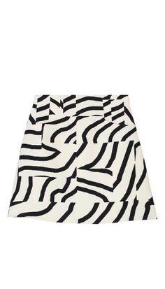 Zebra Maze High Waisted Skirt - Skirts | Shop | Tibi