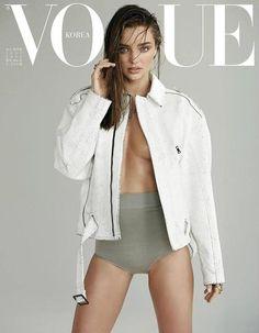 Miranda Kerr usando Proenza Schouler Pre-Fall 2013, en la portada de Julio de Vogue Korea | Manuel Vera