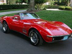 CLASSIC CORVETTE: circa. 1969 Vette in OEM beautiful red sporting  a 350 cid engine; and a 4bbl carburetor; a rare find!