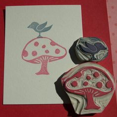 Mushroom Stamp Babes | 1000+ images about Scrap: Tintas y Sellos-Stamps on Pinterest | Clear ...