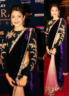 Anushka Sharma in Saree.I love Anushka Sharma in sarees because she does not experiment and twist sarees in such a way that they do not look like sarees Bollywood Designer Sarees, Bollywood Saree, Indian Wedding Outfits, Indian Outfits, Indian Clothes, Indian Bridal Sarees, Wedding Sarees, Desi Wedding, Wedding Dresses
