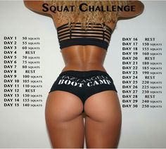 Tazs Angels Boot Camp Squat Challenge~ Completed it! Going to start again!