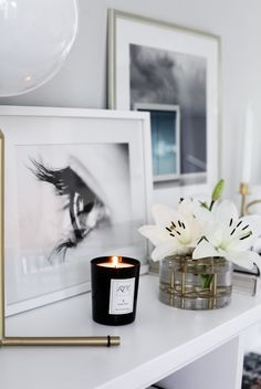 Frames and a candle | The House of Philia, September 2015 [Original post in Swedish]