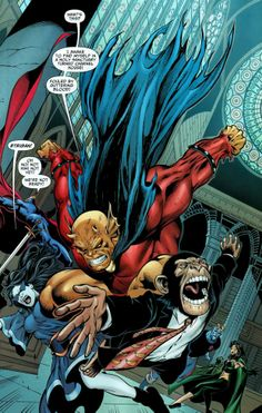 Etrigan The Demon jumps on the monkey