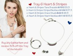 Sabika Tray 6 Heart and Stripes - June Tray of the Month!  Contact me at stephaniesabika@gmail.com or 412-915-5982 to place your order!