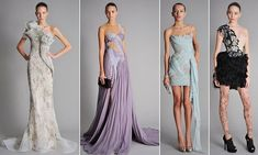 I love the middle two. The colors and the fabric are beautiful and ethereal. Need a dress like this..and a place to go
