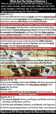 The bible is black history Isaiah 14, Black Hebrew Israelites, Whole Earth, Thing 1, Know The Truth, Black History, Did You Know, Sisters, Bible